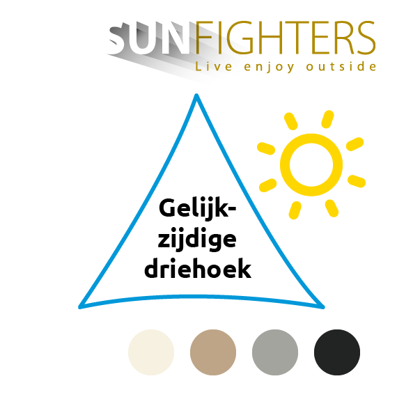 Schaduwdoek driehoek Sunfighters