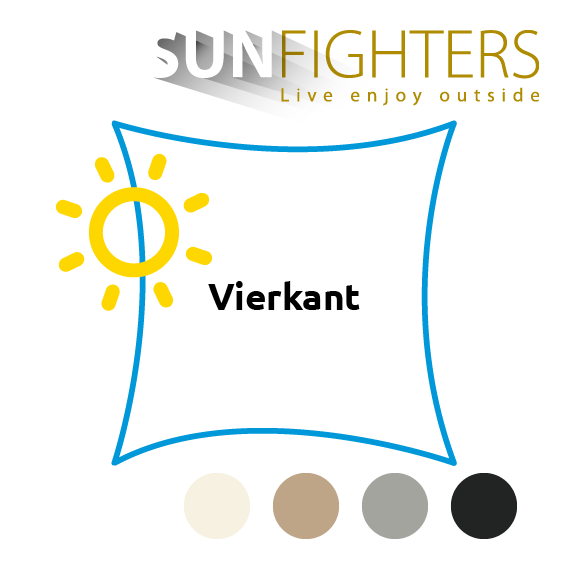 Schaduwdoek vierkant Sunfighters