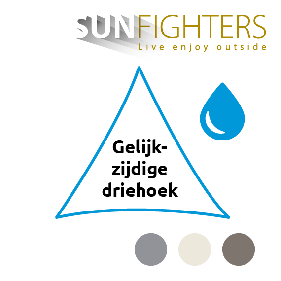 Schaduwdoek waterdicht driehoek Sunfighters