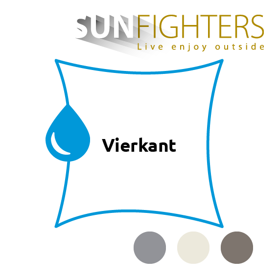 Schaduwdoek waterdicht vierkant Sunfighters